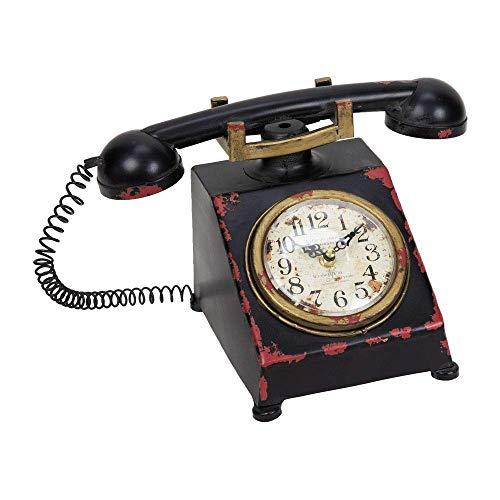Hometime Reloj de metal reloj de mesa-Old Fashioned Classic teléfono-Vintage Shabby Chic.