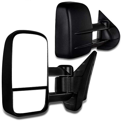 SCITOO Towing Mirrors for Chevy for GMC Exterior Accessories Mirrors 2008-2013 Silverado Sierra 1500 2500HD 3500 (Fit 07 New Body Style) Convex Glass Manual Controlling Telescoping Folding