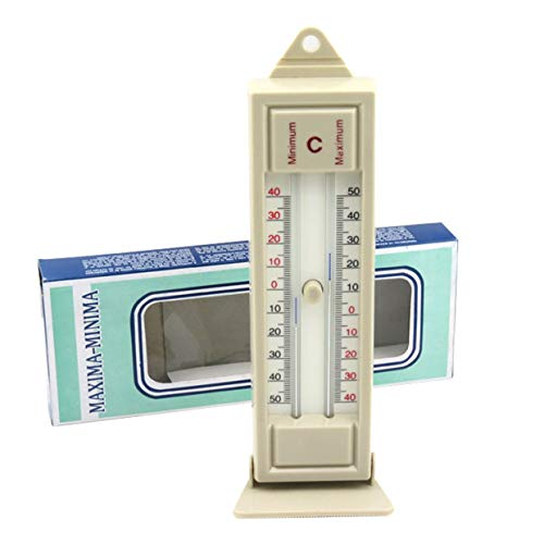 MXECO Maximum & Minimum Thermometer Indoor Outdoor Garten Gewächshaus Wand Temperatur Monitor -40 bis 50 Grad Thermometer (Weiß)