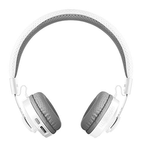 LilGadgets Untangled PRO Kids Premium Wireless Bluetooth Headphones with SharePort and Microphone (Children) - White