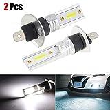 Housesweet, 2 lampadine H1 COB LED per fari abbaglianti/anabbaglianti DRL, luce bianca, 6500 K