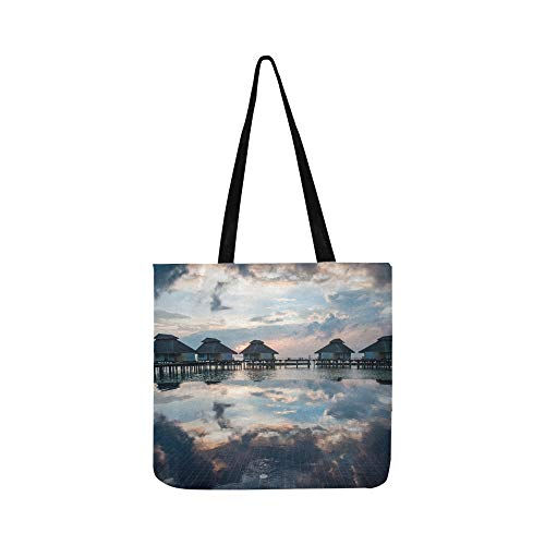 Best Grocery Bags Amazing Panorama Of Sunset Durable Reusable Canvas Multi Purpose Shopping Tote Bags Foldable For Men Women Shopping Groceries Books