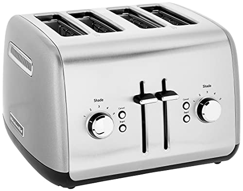 kitchen aid 4 slice toasters KitchenAid Kmt4115cu 4-Slice Toaster with Manual High-Lift Lever, Contour Silver