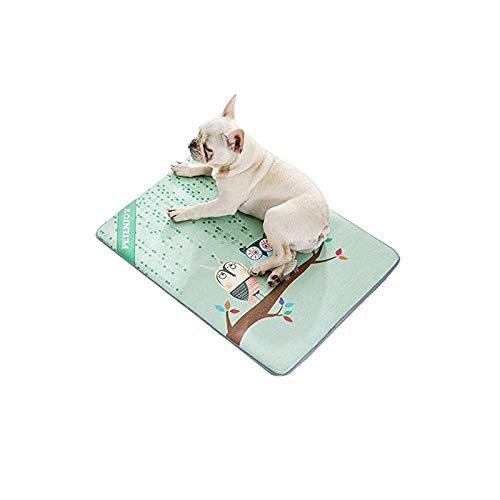 Almohadilla de enfriamiento mascotas Alfombra seda para perros primavera y verano 70...