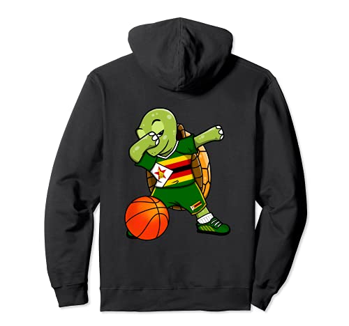 Dabbing Turtle Zimbabwe Jersey Zimbabwe Baloncesto Amantes Sudadera con Capucha