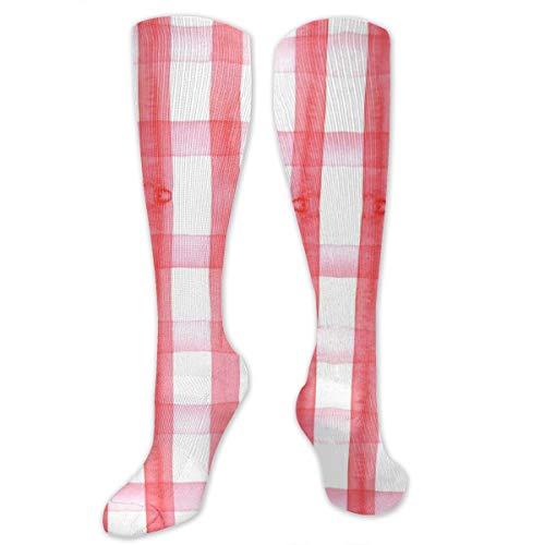 Picknickdecke, kariert, hohe Leistung, sportlich, lässig, lange Socken für Damen und Herren – für Reisen, Laufen, Wandern, Fußball