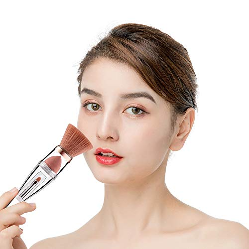 Pinceaux Pinceau de maquillage multifonctionnel 3 en 1 pinceaux de maquillage poudre brosse fondation éponge blender sourcil blush pinceau Beauté du visage
