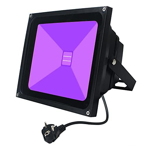 UV Luz Negra,Indmird 20W LED Black light Foco Luz,IP66 Impermeable AC85 - 265V 395-400nm Luces de decoración del escenario Para acuarios, fiesta, pintura fluorescente, fotografía, graffiti, resplandor