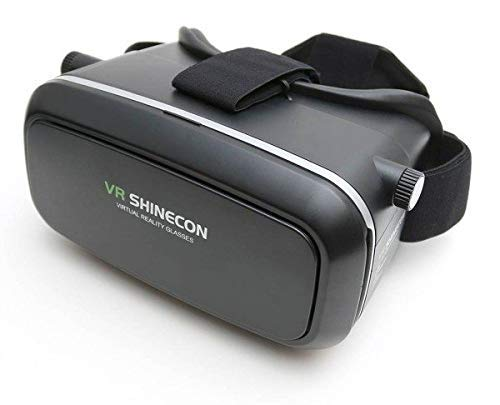 Meckwell VRSHINECON 6.0 VR Headset Version Virtual Reality Glasses Stereo Headphones 3D Glasses Headset Helmets Support 4.7-6.0 inch Large Screen Smartphone - Black
