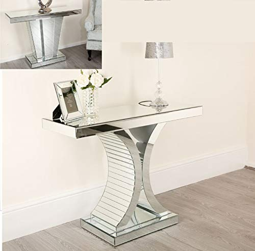 Abreo Mirrored C Frame Console Table