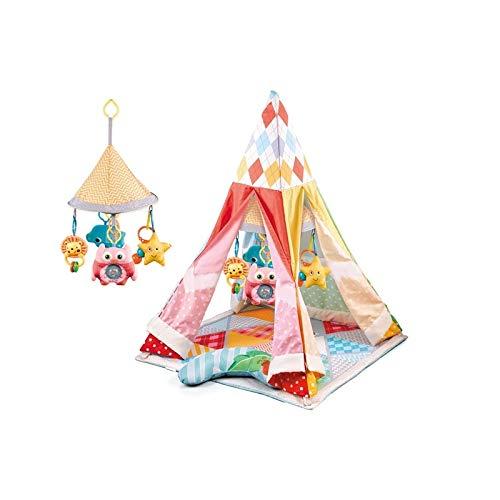 ATAA Tipi Tienda campaña Indios - Rosa Genuina Tienda de campaña Tipi para niños es Convertible. Puede usarse como Tienda de campaña India o como Manta de Juegos