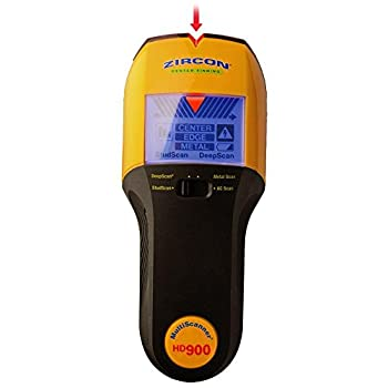 Zircon HD900 9 Volt 4-Mode Multiscanner for Finding Studs Live Wire or Metal w/ Backlit Display  Battery Not Included Tool Only
