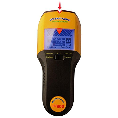 Zircon HD900 9 Volt 4-Mode Multiscanner for Finding Studs, Live Wire, or Metal w/ Backlit Display (Battery Not Included, Tool Only)