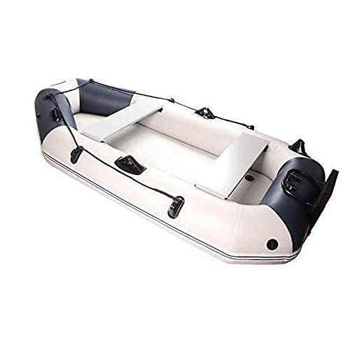 JNWEIYU Kayak Inflable, 0,70 mm de Malla de Goma Engrosada del Barco de Goma, Asalto Barco Kayak, Pesca Inflable Barco C, se Puede equipar con Motor