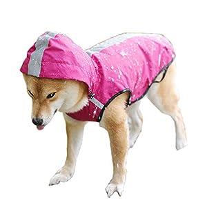 KokoBin Manteau imperméable pour chiens et chats avec capuche, combinaison réfléchissante pour la pluie pour chiens de grande taille, réglable, ultra-léger, respirant, imperméable, poncho, XL-XXXL