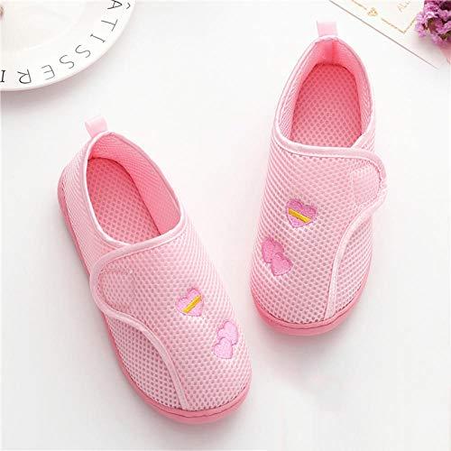 Diabetische pantoffels met brede pasvorm en traagschuim,Zomer dunne opsluitschoenen, kraamschoenen met zachte zool na levering-36_Mesh-roze,Diabetische wandelschoenen voor heren Ademende sneakers