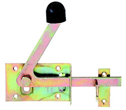 GAH-Alberts 210397 Gartentorfalle, speziell für schmale Rahmenhölzer, galvanisch gelb verzinkt, 100 x 60 mm