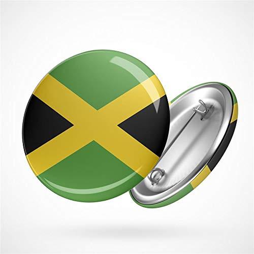 Hellweg Druckerei Button Anstecker Jamaika Flagge Karibik Inselstaat Flag Badge Abzeichen Pin