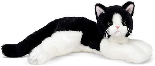 "Bearington Domino Plush Stuffed Animal Black and White Tuxedo Cat, Kitten 15"""