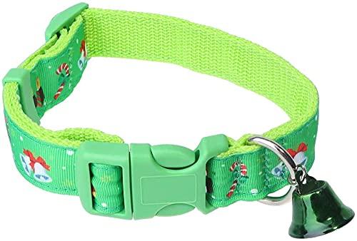 QIXIAOCYB Costo de Navidad para Mascotas Cuello de Navidad, Collar de Campana Collar de Campana Collar de Cuello Creativo para Mascotas Perro Gatito