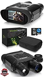 """CreativeXP Digital Night Vision Binoculars for 100% Darkness - Save Photos & Videos - 7x31 mm Infrared Spy Gear for Hunting & Surveillance - 4"""" Large Screen & 1300ft Viewing Range"""