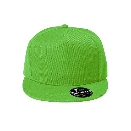 OwnDesigner - Snapback, Cap, Mütze, Kappe Unisex Baseball Cap in verschiedenen Farben, für Erwachsene und Kinder, A5-grün, Einheitsgröße