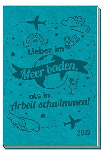 Trötsch Taschenkalender 2021 A7 Soft Touch Meer: Taschenterminer