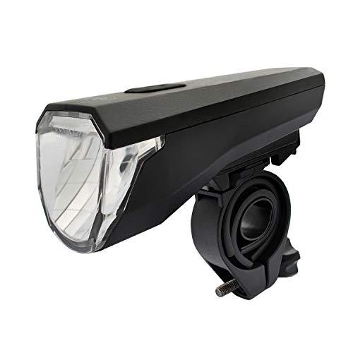 nean Fahrrad Frontleuchte LED Scheinwerfer mit Akku und StVZO Zulassung, 50 Lux