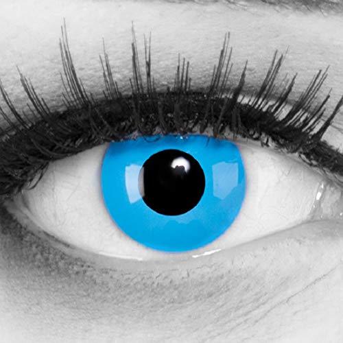Meralens Kostüm Halloween Farbige Blaue Kontaktlinsen Color Fun Contact Lenses Blue Angel perfekt zu Fasching, Karneval und Halloween Topqualität inkl. 60 ml Pflegemittel und Linsenbehälter