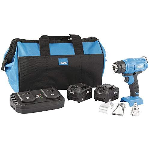 Draper 99738 D20 20V Heat Gun Kit (+2 x 3Ah Batteries, Charger and Bag)