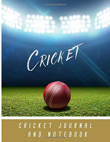 Cricket Notebook and Journal: Cricket Composition College Ruled Lined Notebook for fans of Cricket. Large size journal great for sport studies, ... Inspirational gift idea for cricketers.