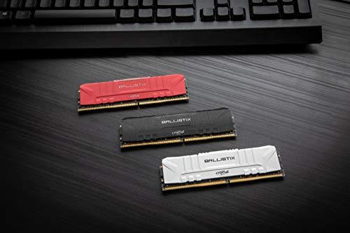 Crucial Ballistix BL2K8G32C16U4R 3200 MHz, DDR4, DRAM, Memoria Gaming Kit per Computer Fissi, 16GB (8GB x2), CL16, Rosso