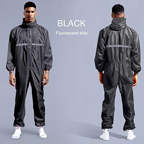 Wasserdichte Arbeitskleidung Regenschutz-Arbeitskleidung mit Kapuze Staubdichte Farbe Spray Unisex Regenmantel Arbeitskleidung Sicherheitsanzug XXXL
