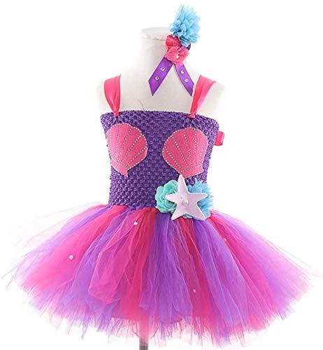 Hcxbb-11 Tanz-Kostüm-Kinderkleidung -festartikel Kostüm- Mermaid Ballett Halloween-Geburtstags-Party Kult Prinzessin Kostüm (Farbe : Purple, Size : 100)