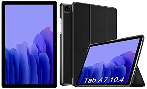 Samsung Galaxy Tab A7 26.31 cm (10.4 inch), Slim Metal Body, Quad Speakers with Dolby Atmos, RAM 3 GB, ROM 32 GB Expandable, Wi-Fi-only, Grey + Cover