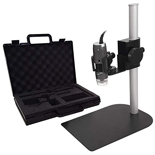 Dino-Lite Microscope Kit with Tabletop Stand and Carrying Case (AM4113ZT/MS35B)