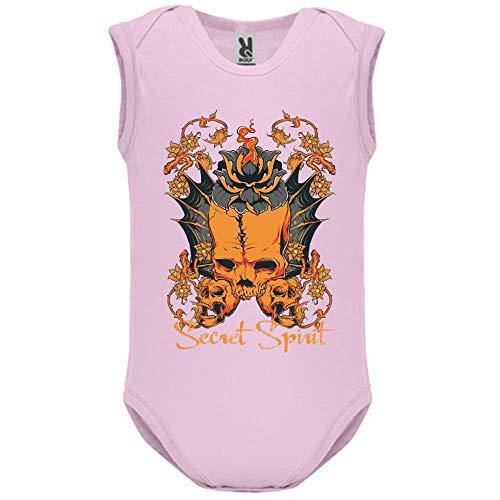 LookMyKase Body bébé - Manche sans - Secret Spirit - Bébé Fille - Rose - 6MOIS
