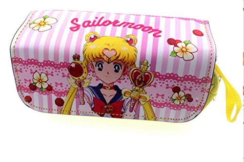 FIFY Trousses à Maquillage Anime-Cosmetic-Cases-Mode-Crayon-Case-Sailor-Moon-Cartoon-Stylo-Sac-Femmes-Zipper-Make.jpg, 20 * 6.5 * 9cm
