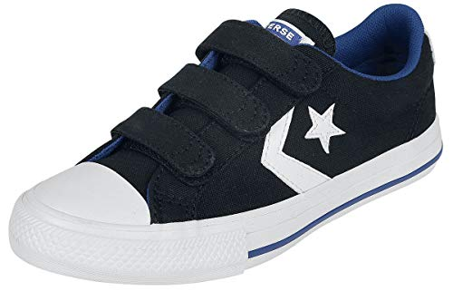 Converse Star Player 3V Canvas - OX Kids Kinder & Babies Kinder Schuhe schwarz/weiß EU 34