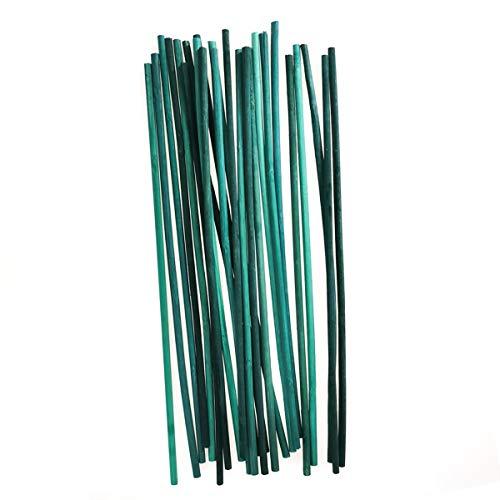 Kungfu Mall Bâtonnets de Soutien pour Plantes Bâtonnets de Fleur en Bambou - Plante de Jardin de 12 Pouces pour développer Un Support en Bois (Paquet de 100)