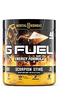 G Fuel Spicy Scorpion Sting  40 Servings  Elite Energy and Endurance Powder 9.8 oz  Mortal Kombat