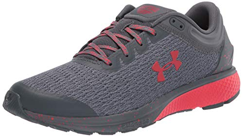 Under Armour Men's Charged Escape 3 Running Shoe, Pitch Gray (104)/Versa Red, 15