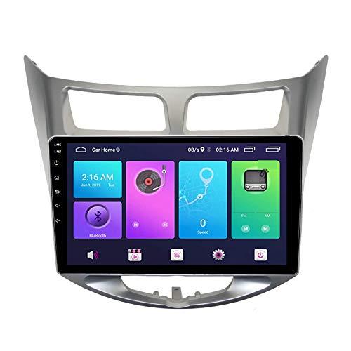 Navegación por satélite Android 10.0 Estéreo para automóvil, compatible con radio Hyundai Verna 2010-2017 Navegación GPS Unidad principal de 10 pulgadas Reproductor multimedia MP5 Receptor de video R