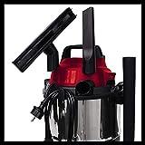 Base Aspirador en seco y húmedo, 1250 W, 220-240 V, 50 Hz, 180 mbar, 78 dB (A),...