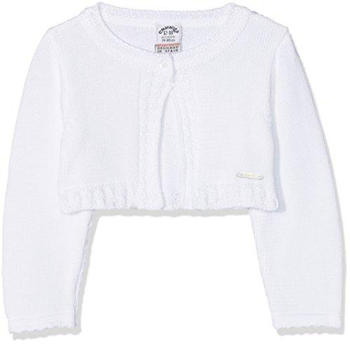 Charanga Renzadiya, Cárdigan Unisex Bebé, Blanco (Blanco 1), 56 (Tamaño del fabricante:0-3)