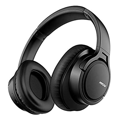 Mpow H7 Bluetooth Headphones Over Ear, HiFi Stereo Wireless and Wired Headset with Mic, Handsfree Calls, Voice Assistant, Soft Memory Protein Earmuffs for Home Office Online Class Travel Phone PC TV from Mpow