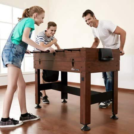 54 4-in-1 Combo Entertainment Game Table with Soccer, Slide Hockey, Table Tennis, and Billiards (54, 4-in-1 Games)