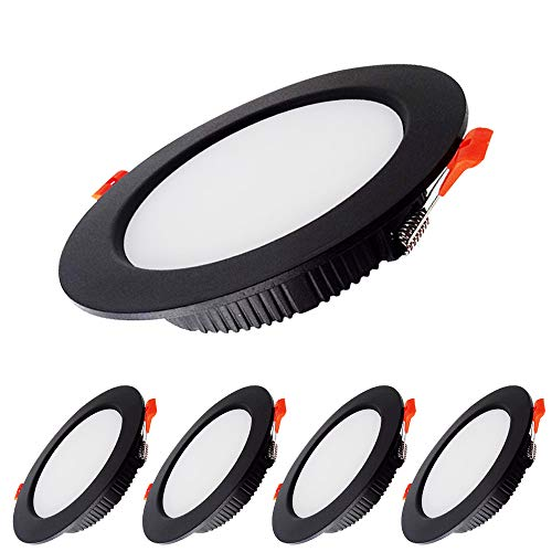 KSIBNW 5x Downlight LED 7W Foco empotrable led techo Redondo = 70W...
