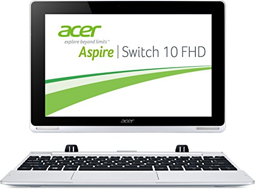 Acer Aspire Switch 10 Pro SW5-012PG 25,65 cm (10,1 Zoll HD) Convertible Laptop (Intel Atom Z3735F, 1,83GHz, 2GB RAM, 64GB SSD, Win 8.1 Pro, Touchscreen) silber