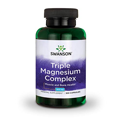 swanson premium bone supplements Swanson Triple Magnesium Complex Absorption Bone and Mood Health Citrate Oxide and Aspartate Combination Supplement 400 mg 300 Capsules